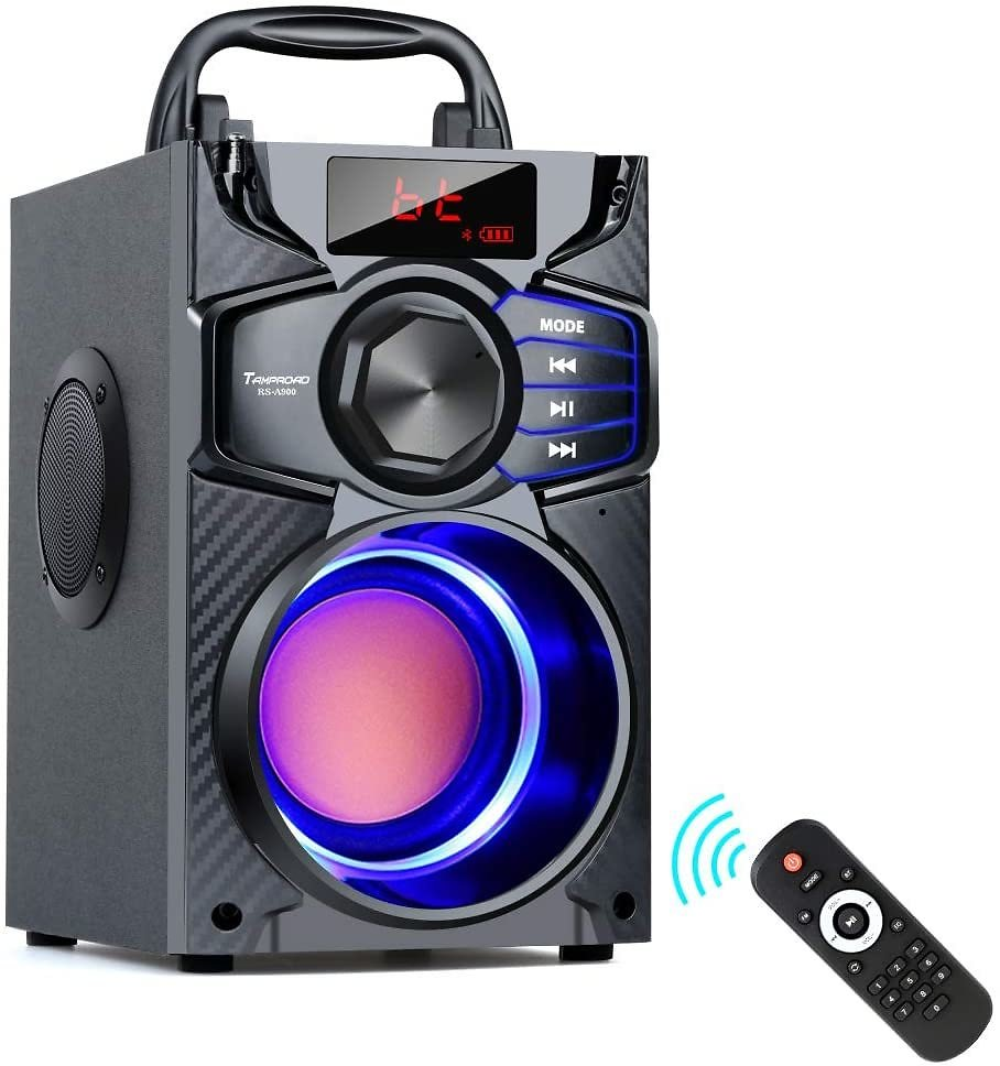Bluetooth Speakers, Wireless Speaker with Impressive Sound, Booming Bass, Wireless Stereo Pairing, Portable Speaker with Party L