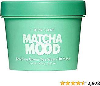 I DEW CARE Matcha Mood | Soothing Green Tea Wash-Off Face Mask | Gifts for Women Who Has Everything | Korean Skincare, Facial Treatment, Vegan, Cruelty-free, Gluten-free, Paraben-free