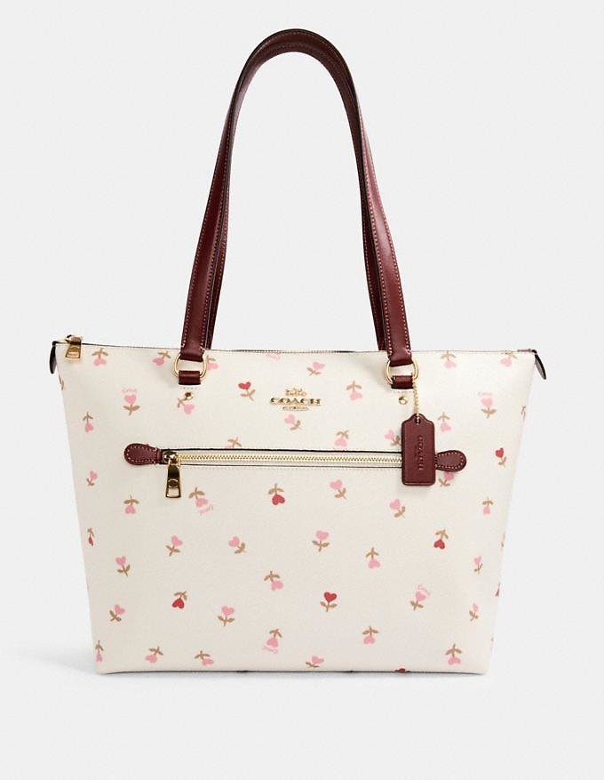 Gallery Tote with Heart Floral Print