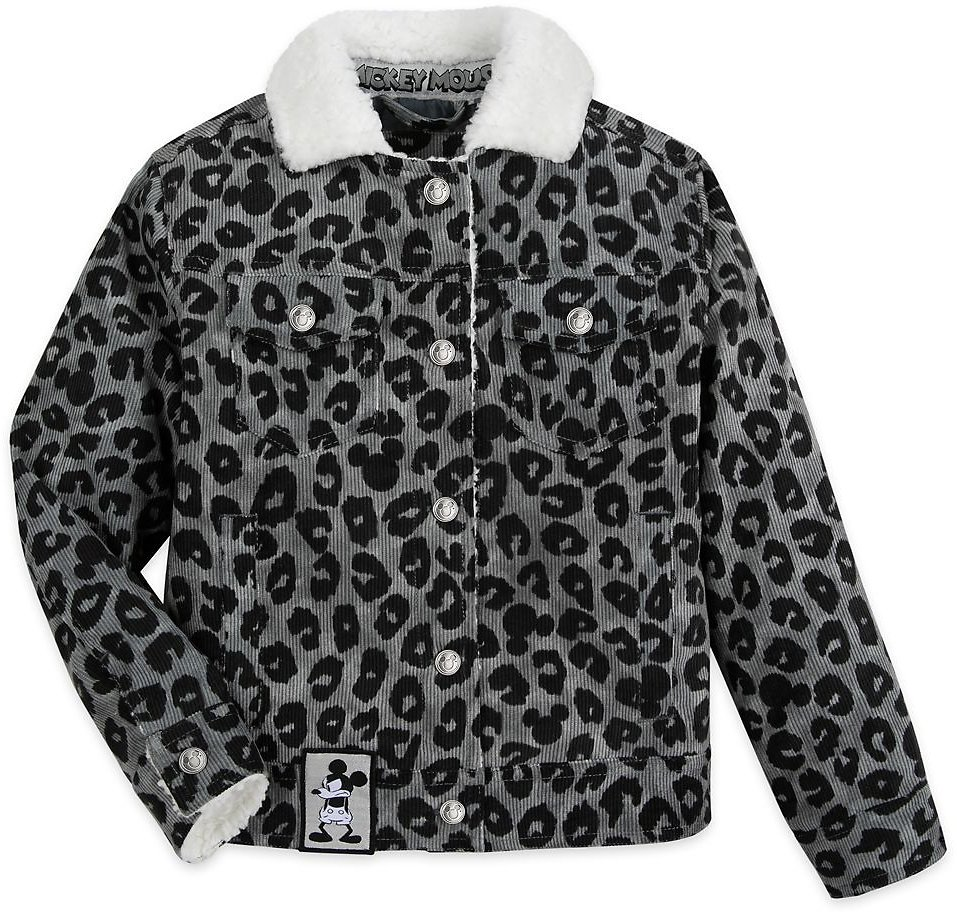 Girls Mickey Mouse Grayscale Jacket