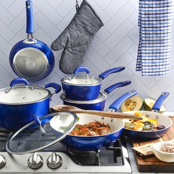 Kenmore 12 Pieces Aluminum Non Stick Cookware Set