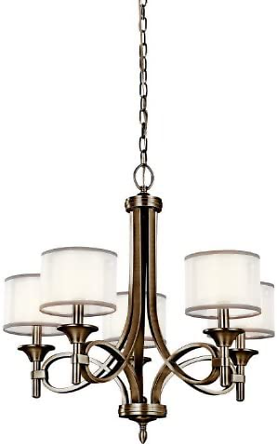Kichler 42381AP Lacey Candle Chandelier Lighting with Shades