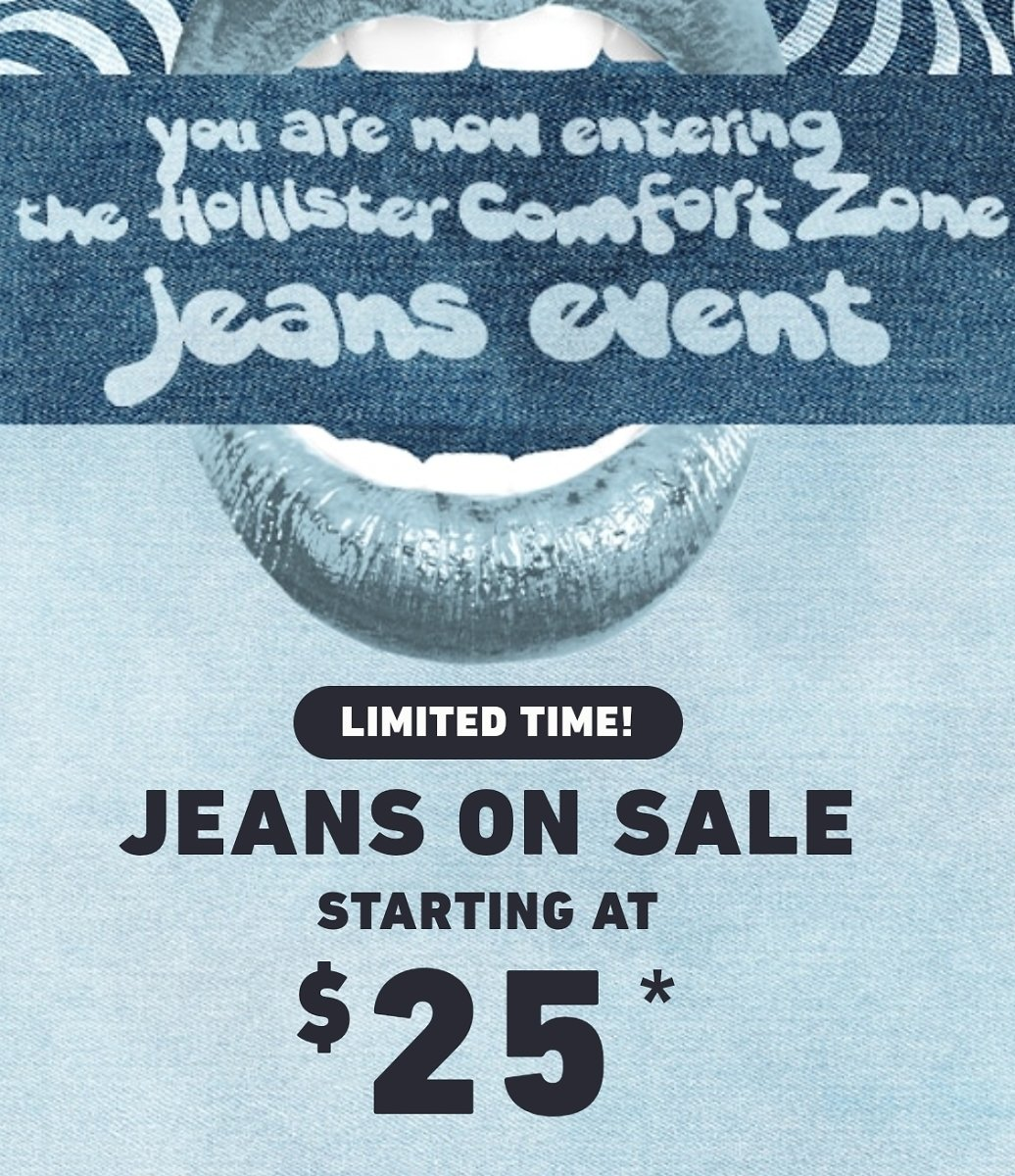 Jeans On Sale Starting At $25   Hollister Co.