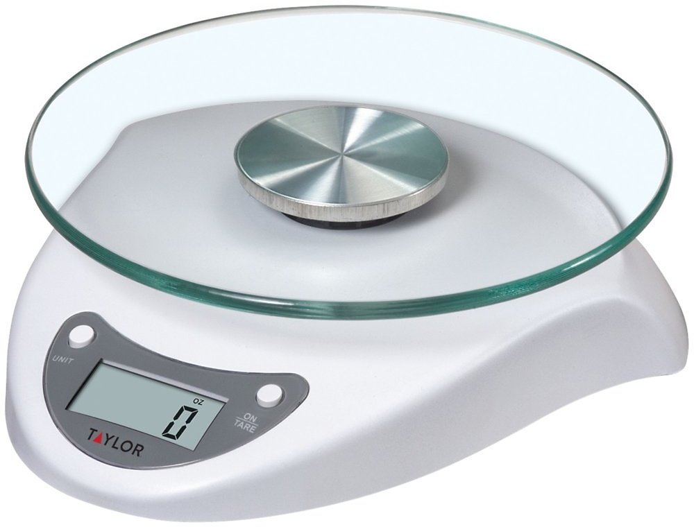 Taylor Digital Glass Platform White Base Food Scale