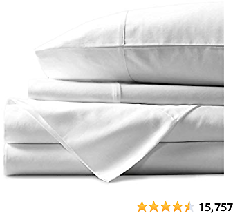 Mayfair Linen 100% Egyptian Cotton Sheets, White Queen Sheets Set, 800 Thread Count Long Staple Cotton
