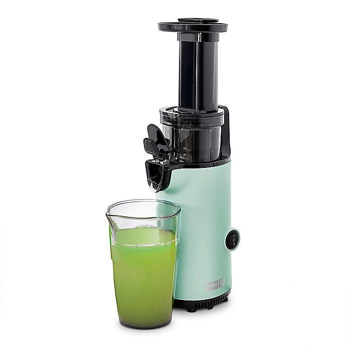 Dash® Compact Cold-Press Power Juicer in Aqua