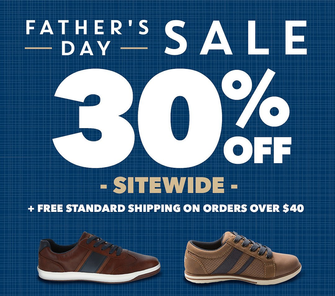 30% Off Father's Day Footwear Sale