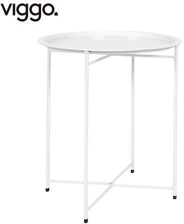 Viggo-End Table, Side Table Metal Waterproof Small Circular Bedside Table with Round Removable Tray for Living Room Bedroom Bathroom Balcony and Office White - Newegg.com