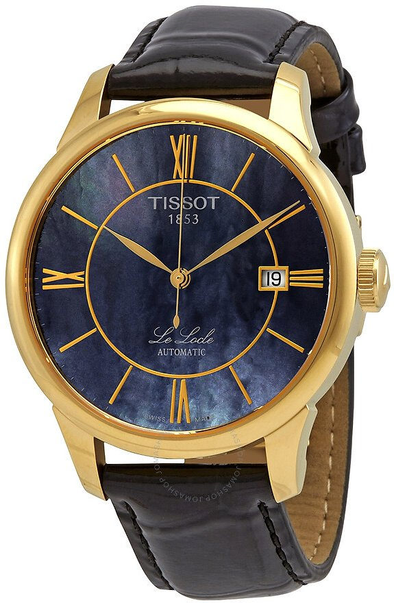 Tissot Le Locle Automatic Black Mother of Pearl Dial Men's Watch T41.5.423.93