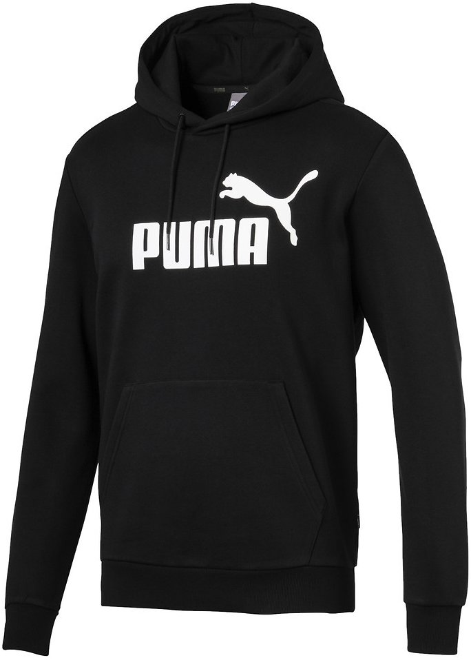 Essentials Fleece Men's Hoodie | Black - PUMA