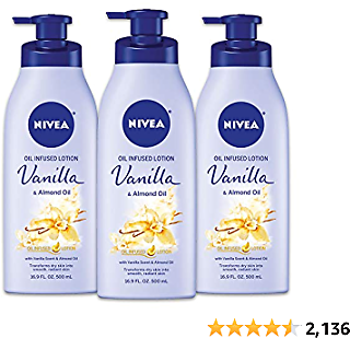 48% Off NIVEA Vanilla and Almond Oil Infused Body Lotion, 16.9 Fl. Oz (Pack of 3)