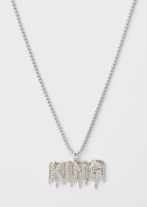 Silver King Drip Pendant Necklace