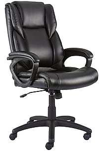 Quill Brand® Kelburne Luxura Faux Leather Computer and Desk Chair, Black (50859)