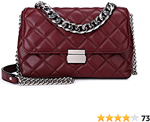 Quilted Leather Crossbody Bags for Women Designer Convertible Styles Shoulder Handbags Purse with Metal Chain