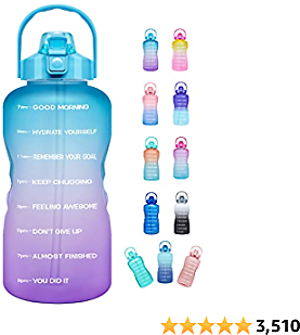 Venture Pal Large Half Gallon/64oz Motivational Water Bottle with Time Marker & Straw,Leakproof Tritan BPA Free Water Jug,Ensure You Drink Enough Water Daily for Fitness,Gym and Outdoor Sports