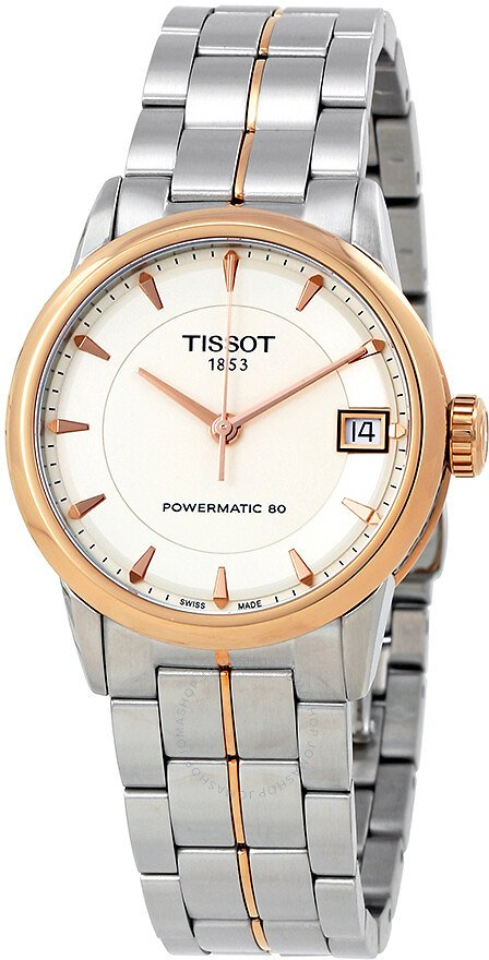 Tissot Lady Luxury Powermatic 80 Ivory Dial Ladies Watch T0862072226101