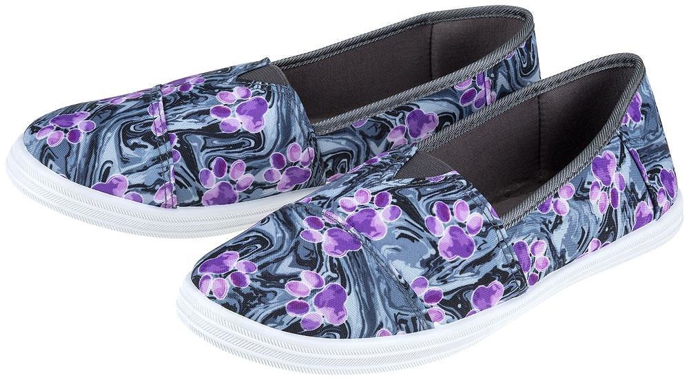 Paw Print Love Slip-On Canvas Sneakers