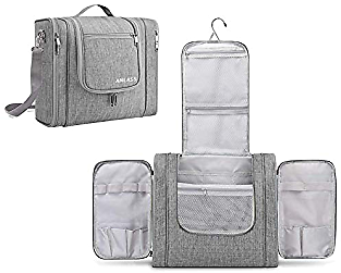 Large Hanging Toiletry Bag Travel Bag for Men & Women Water-Resistance Cosmetic Make Up Organizer for Travel and Bath Shower Accessories Kit