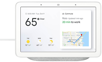 Google Home Hub 7-inch Smart Touchscreen Assistant