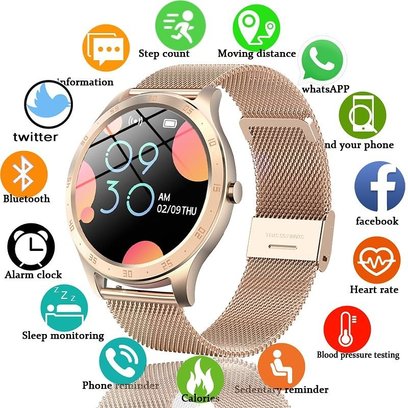 US $26.09 82% OFF|LIGE New Women Smart Watch Woman Fashion Watch Heart Rate Sleep Monitoring For Android IOS IP67 Waterproof Ladies Smartwatch+Box|Smart Watches| - AliExpress