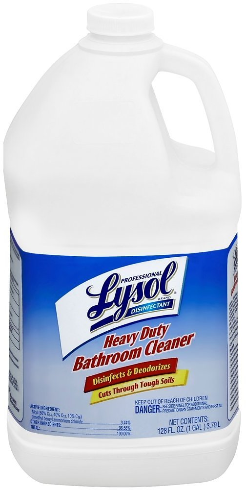 Professional Lysol Disinfectant Heavy Duty Bathroom Cleaner Concentrate, 128oz