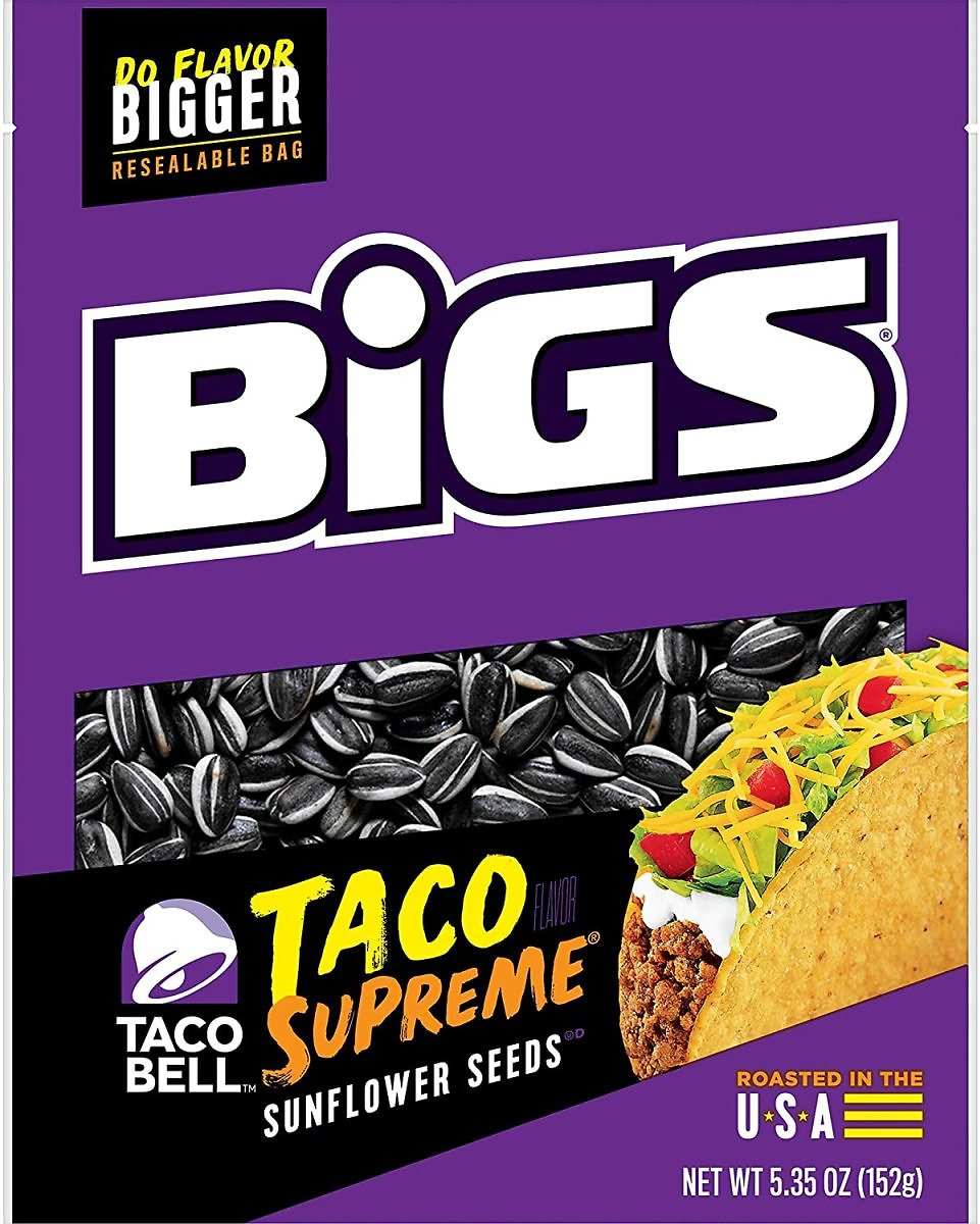 BIGS Taco Bell Taco Supreme Sunflower Seeds, Keto Friendly Snack, Low Carb Lifestyle, 5.35-oz. Bag