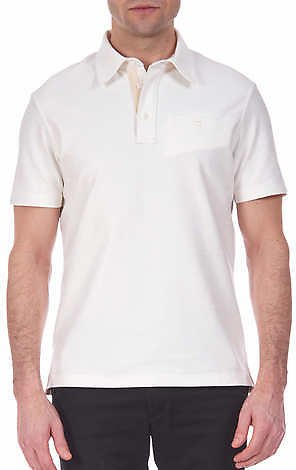 Jachs NY Men's Short Sleeve Slub Cotton Polo