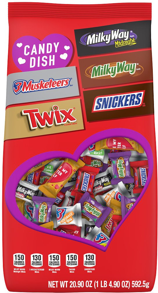 Mars Minis Assorted Chocolate Candies, Valentines Day Candy, Stand-Up Pouch (20.9 Ounces)