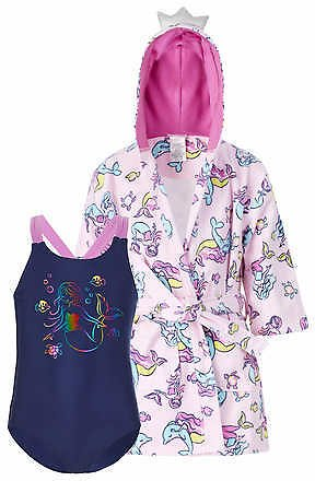 Saint Eve Youth Beach Cover Up and Swimsuit Set, Mermaid