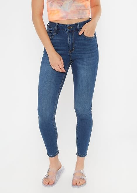 Ultimate Stretch Dark Wash High Waisted Curvy Jeggings