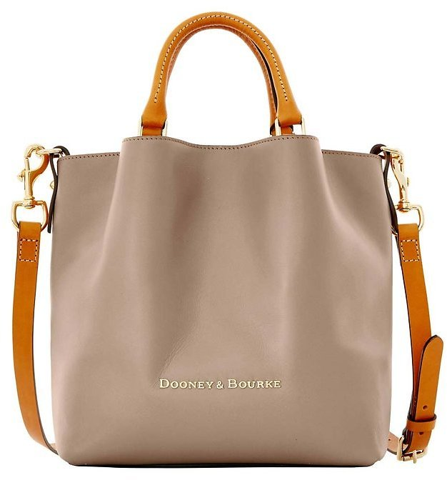 Taupe Small Barlow Leather Shoulder Bag