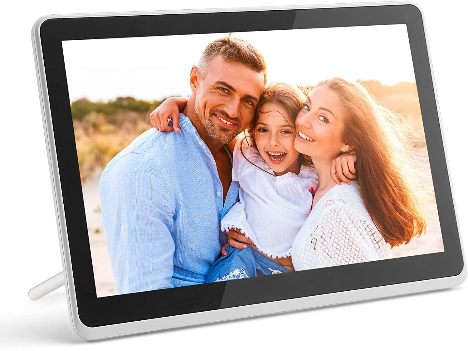 Digital Photo Frame WiFi Digital Picture Frame Kimire 1920x1080 Touch Screen, Support Thumb USB Drive and SD Slot, Music Player,