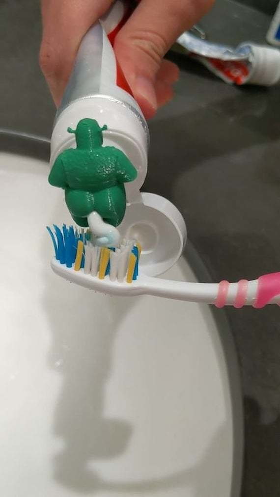 Special Unique Ogre Pooping Toothpaste Topper Less Than $7