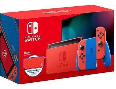 Nintendo Switch with Red Joy-Con Mario Red & Blue Edition - Red - $358.99