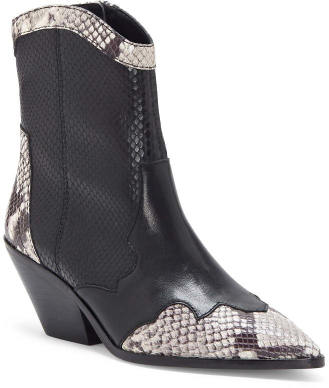 Vince Camuto | Jaidin Leather Snake Embossed Western Boot | Nordstrom Rack