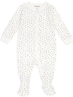 Petit Lem FiRSTS By Unisex Number Print Cotton Footie - Baby Kids - Bloomingdale's