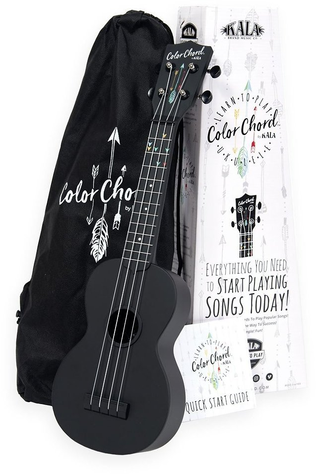 Official Kala Learn To Play Series COLOR CHORD® Ukulele - Includes Case, Tuner App, and Booklet