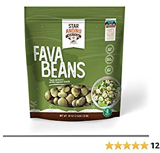 Star Andino Heritage Fava Beans - Fiber-Rich Fresh Whole Legumes for Mediterranean & Middle Eastern Cooking - High Protein, Iron & Folate Content - Non-GMO Premium Raw Beans - Product of Peru, 40 Oz.