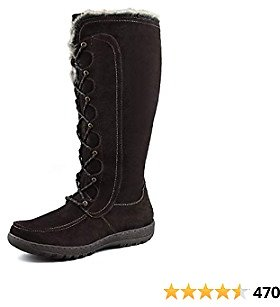 Amazon.com | Comfy Moda Women's Tall Winter Snow Boots Warsaw