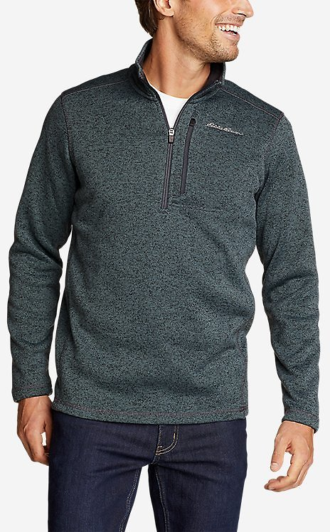 Eddie Bauer Mens Radiator 2.0 1/2-Zip Sweater