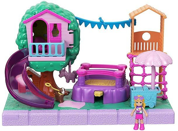 Polly Pocket Pollyville Outdoor Party Pack Set