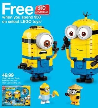 (02/21) Free $10 Gift Card With $50 LEGO Toys