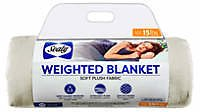 Sealy® 15 Pound Soft Plush Quilted Weighted Blanket