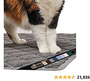 Gorilla Grip Original Premium Durable Cat Litter Mat, Traps Litter from Box and Cats, Scatter Control, Mats Soft On Kitty Paws, Easy Clean Mats