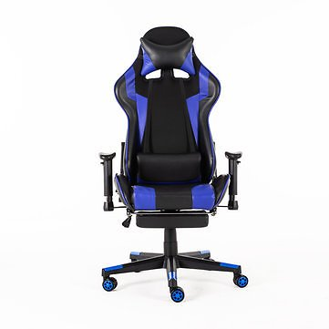 Racing Style Ergonomic High-Back Computer Gaming Chair 90°-180° Reclining Internet Cafe Seat Household Folding Armchair with Footrest Office
