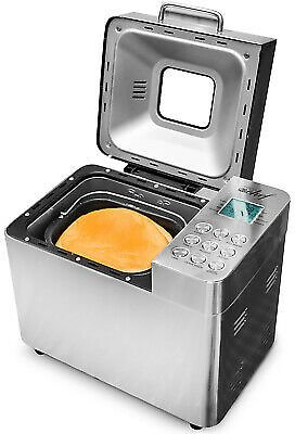 Deco Chef Bread Maker 2LB Stainless Steel w/ 25 Cooking Programs
