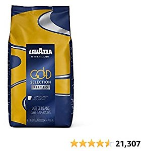 Lavazza Gold Selection Filtro Whole Bean Coffee Light Roast 2.2LB Bag