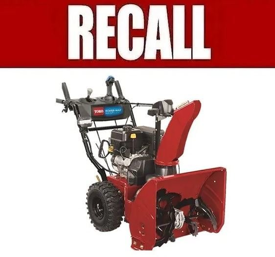 6700 Snowthrowers Sold At Home Depot, Ace Hardware Recalled