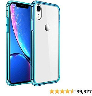 Mkeke Compatible with IPhone Xr Case,Clear Cover for 6.1 Inch Green