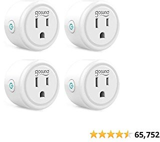 Smart Plug, Gosund Mini Wifi Outlet Works with Alexa, Google Home, No Hub Required, Remote Control Your Home Appliances from Any